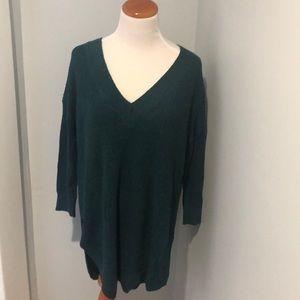 Express Long Green Sweater